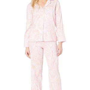 Ralph Lauren Paisley Print Pajamas sz Petite Med